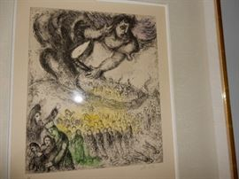 MARC CHAGALL References Cramer 30, Verve N.101. Etching with watercolor tinting.  Edition 46/100. To purchase please contact Jeanette at 224.578.1846  BUY IT NOW $6,000.00
