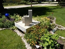 Sculptural fountain by Henri, the foremost manufactures of sculptural for your outdoor enchantment. BUY IT NOW $500.00