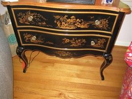 Black Lacquer Chinese side table