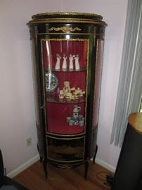 Black Lacquer Chinese Curio Cabinet