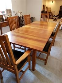 Crate and Barrel cherry dining set