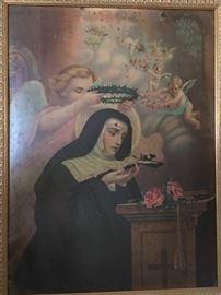 Unsigned painting of St. Rita de Cascia