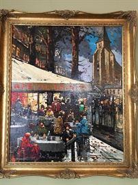 Paris Street Scene signed Henri Renard