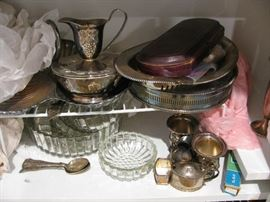 assorted silverplate and silver