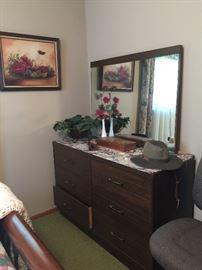 Dresser with mirror