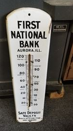 Porcelain Bank thermometer