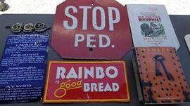 Porcelain and vintage signs