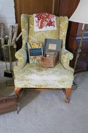 Vintage Wingback chair...good bones or cool distressed look.  We have a pair of these.