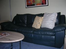 All leather beautiful couch