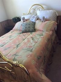 Full Size Brass Bed
