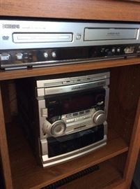 Phillips dual tape deck stereo, Phillips combo dvd/vhs player