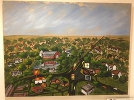 Painting of Fredericksburg,Va. by Carol Baker