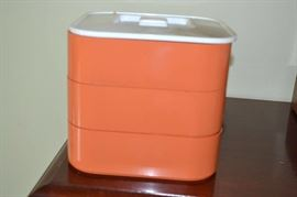 Mid century stacking food storage. Lots of additional  vintage Tupperware in great condition.