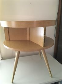 Fabulous blonde wood mid-century end table
