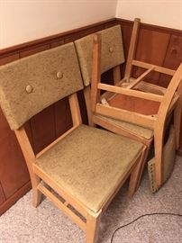 Six chairs and table