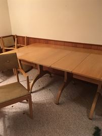 Mid-century table and six chairs