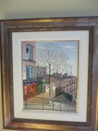 """LE POETE PARISIAN MEMORIES "" LIMITED EDITION SERIGRAPH  ON CANVAS LIUDMILA KNDAKOVA"