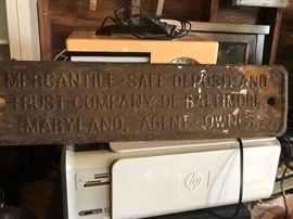 Large old sign
