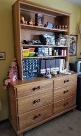 Ranch Oak Dresser with Shelf