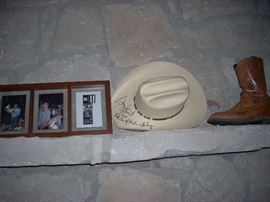 Some of the items Signed by George Strait
