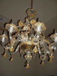 Another view of the Italian art Chandelier