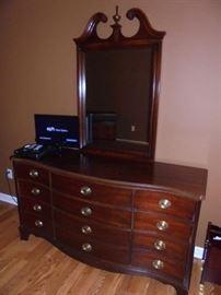 12 drawer dresser w/mirror by Dixie