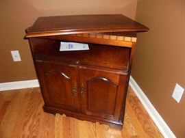 Harrison Bay Sale 003   Wood TV cabinet w/swivel top, pull out tray & 2 doors