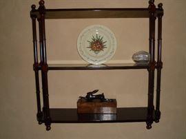 3 tier wood wall shelf