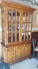 $150   Solid oak china cabinet