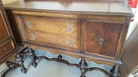 $500   Walnut buffet, part of 3 piece set