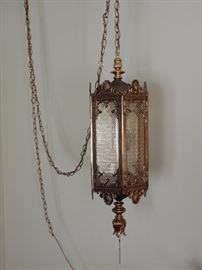 Pendant or Hanging Lamp - Hollywood Regency Style