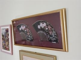 Framed Vintage Fans
