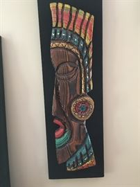 Mid-Century Witco? Tiki Wall Art