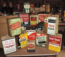 GREAT SELECTION OF OLD ADVERTISING CANS