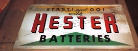 HARD TO FIND HESTER BATTERY SIGN