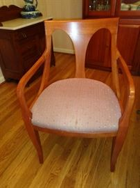 closeup of chairs that go w/dining room table