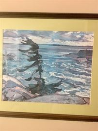 One of the prints from an artist of the Canadian Group of 7