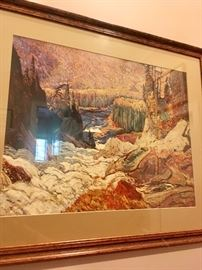 One of the prints of an artist of the Canadian Group of 7