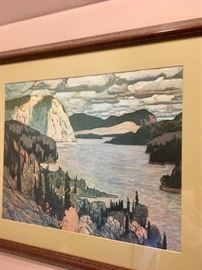 One of the prints of an artist from the Canadian Group of 7