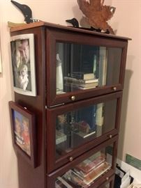 There are 2 lawyers bookcases