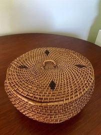 Antique handmade basket