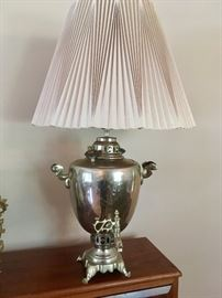 Silverplate coffee urn ~ now a lamp!