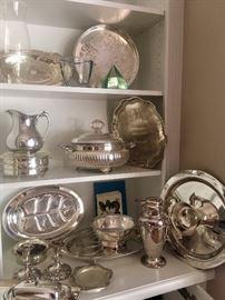 Misc. silverplate holloware