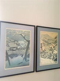 Antique Japanese woodblock prints