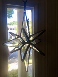 Lead glass star