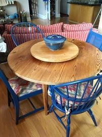 """48"""" round table with Lazy Susan (chairs priced separately)"""