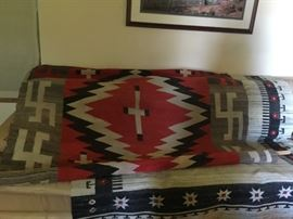 Navajo Chiefs Blanket - Third Phase (Whirling Logs/swastikas, crosses, diamond shapes)