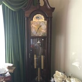 A beautiful Trend (Sligh) grandfather clock -- a very nice piece.