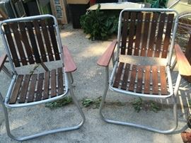 a couple of nice redwood chairs in excellent condition