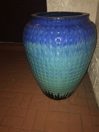 "Tall vase multiple glazed, 24"" x 34"". Can be used as a fountain!"